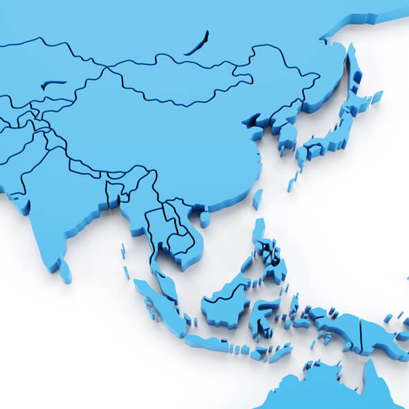 3d render of southeast asia map with countries in separate piecesClick